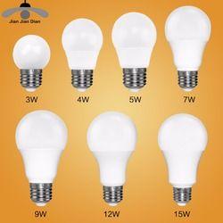 Ampoule Led E27 E14 Bombillas Lampe cfl Ampoule Spotlight Lumière Lampada Diode 220 V 110 V SMD 2835 3 W 5 W 9 W Home Decor D'énergie économie