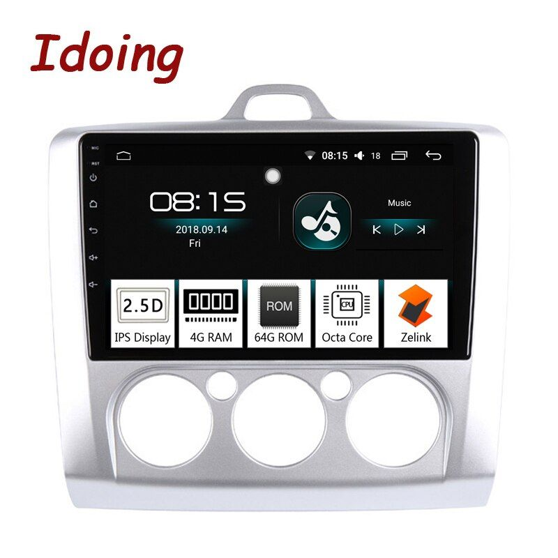 Idoing 9 4G + 64G Octa Core Auto radio Android 8.0 Multimedia Player Fit Ford Focus 2004- 2012 IPS 2.5D Screen GPS Navigation PX5