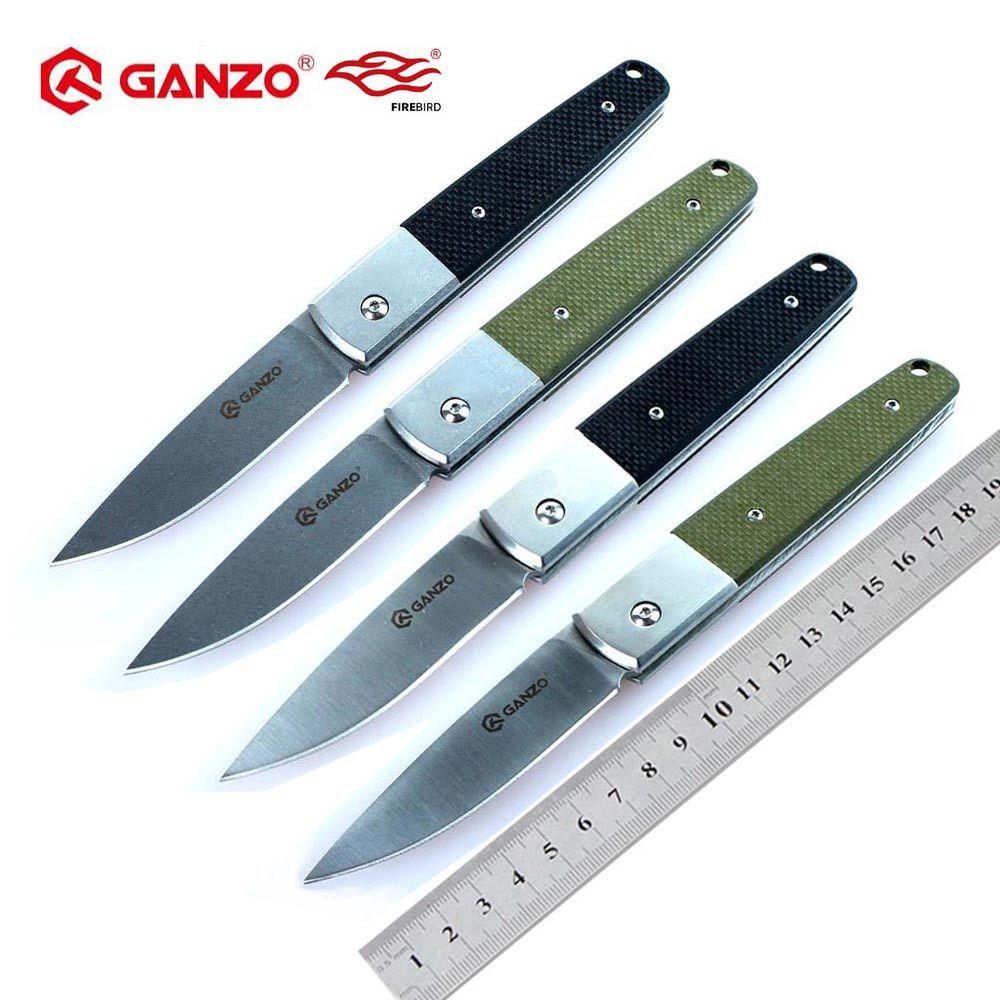 Ganzo G7212 G7211 F7212 f7211 58-60HRC 440C G10 ou manche en bois couteau pliant survie Camping chasse couteau de poche outil tactique