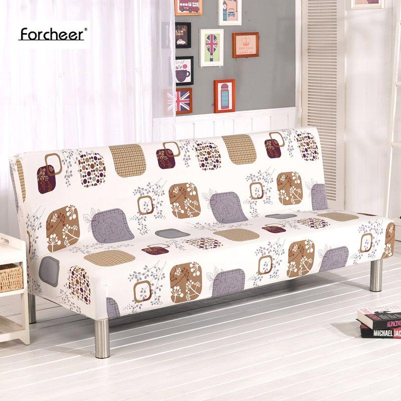 Canapé serré Wrap tout compris antidérapant élastique extensible meubles housses de canapé housse de canapé pas d'accoudoir housse de canapé-lit pliante