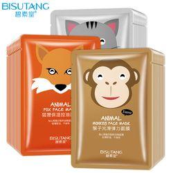 BISUTANG Mignon Chat Singe Renard Animal Masque Hydratant Blanchissant le Contrôle Du Pétrole Nourrissant Hydratant Soins de La Peau Masque