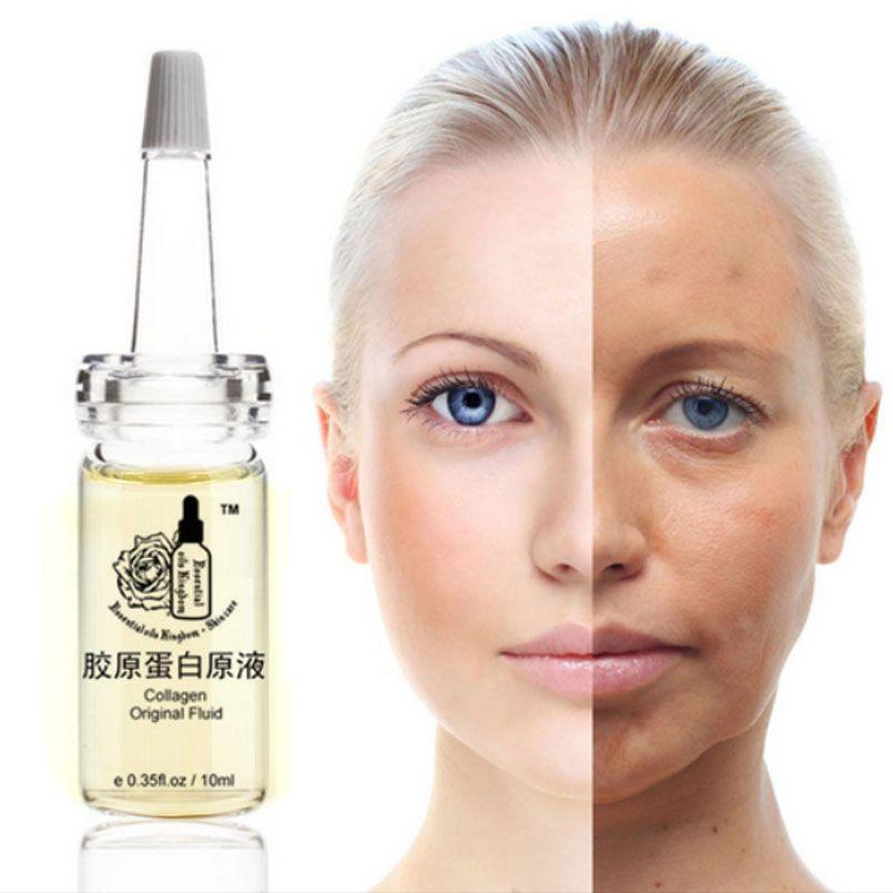 Collagène Original fluide yeux réparation soins du visage cernes Anti-âge hydratant blanchissant 10 ml * 2 pièces
