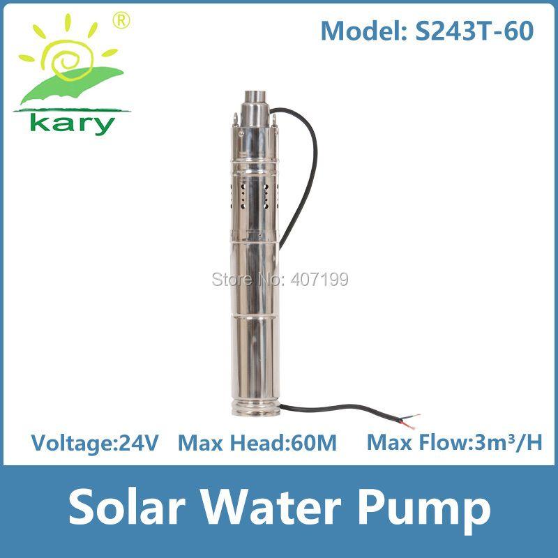 Kary 24 v 48 v DC tauchpumpe, 50LPM schraube brunnen pumpe, 60 mt hochauftriebssolarwasserpumpe