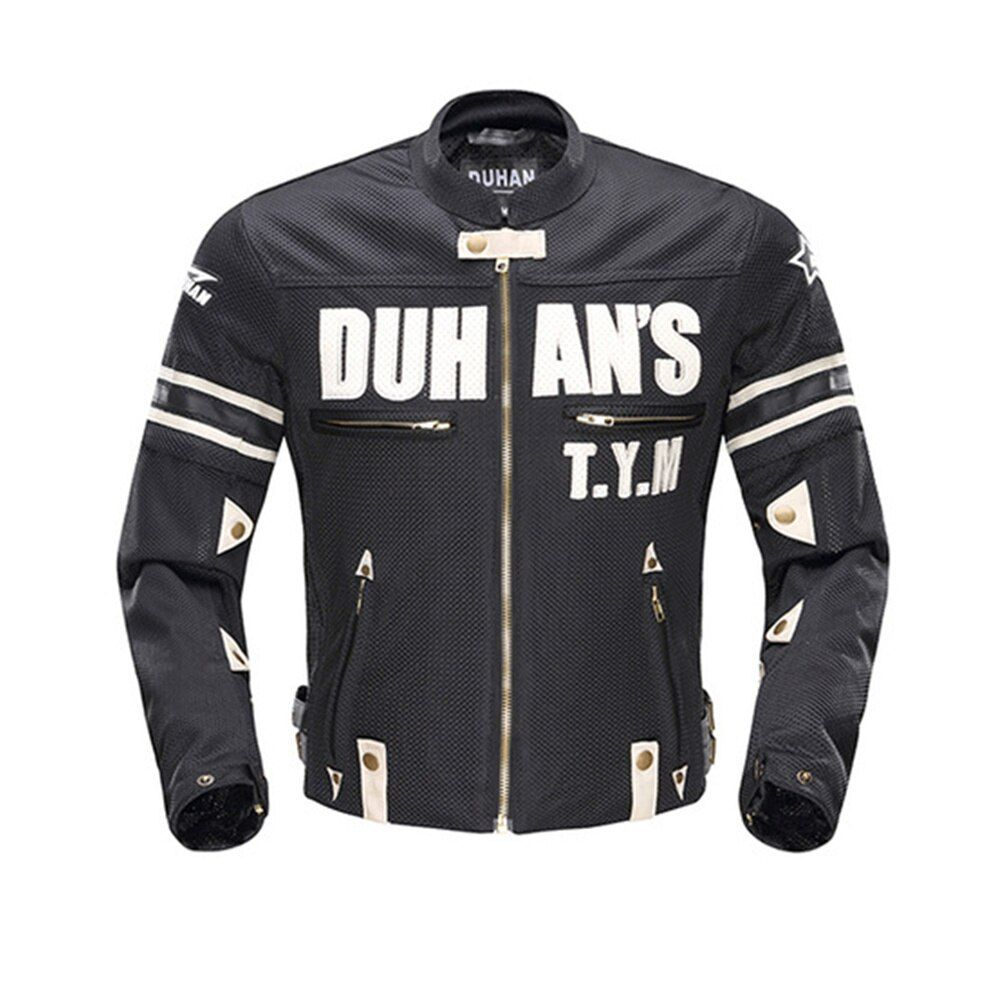 DUHAN Motorcycle Jackets Motorbike Summer Body Armor Riding Off-Road Racing Sports Autumn Jackets Clothing With Five Protector