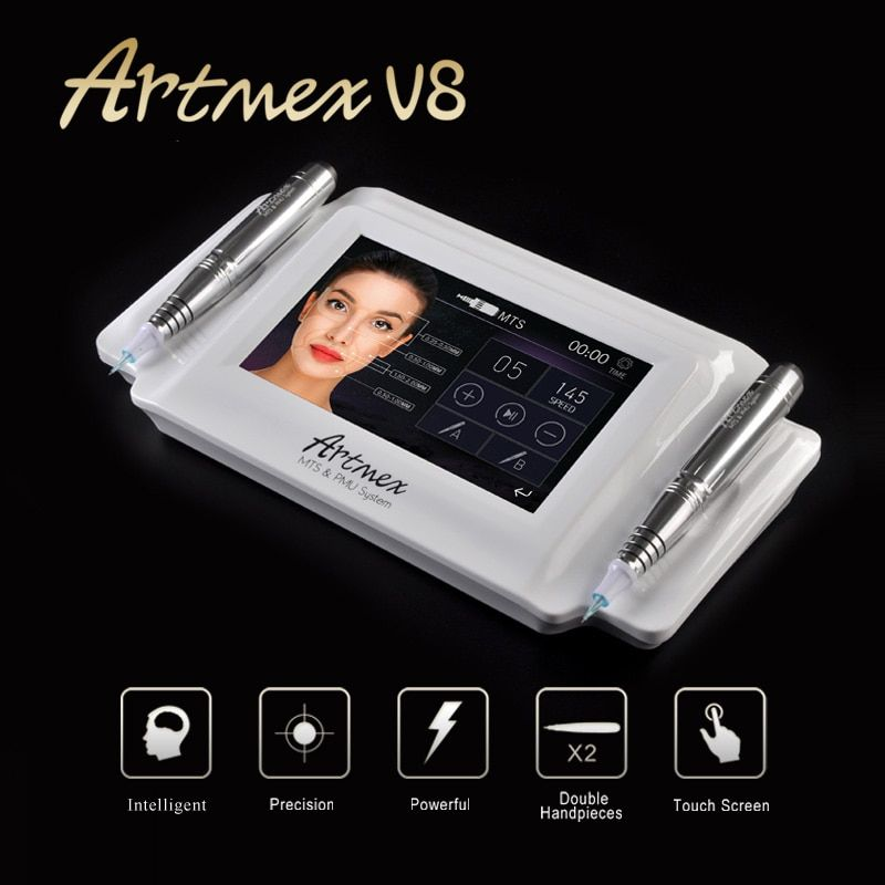 Artmex V8 Permanent Make-Up Tattoo Maschine Eye Brow Lip Pen Dreh V6 MTS PMU System