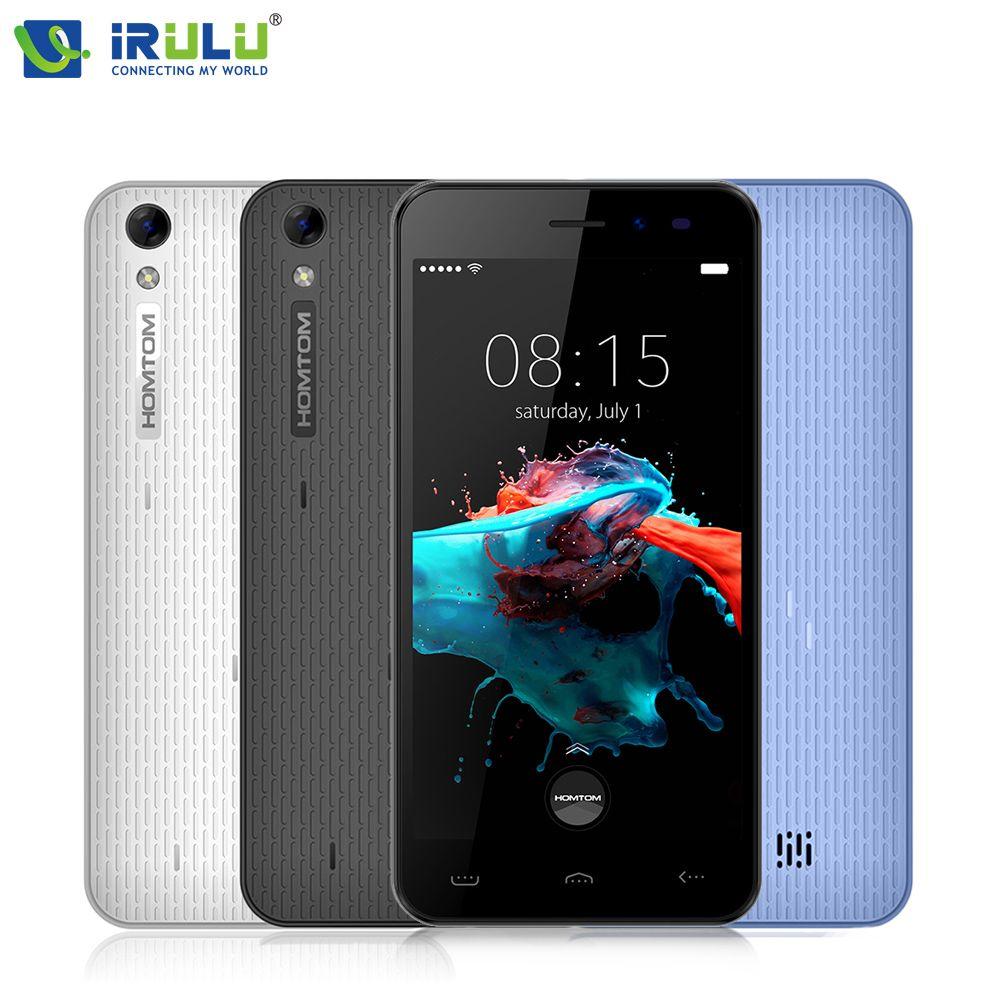 Original iRULU HOMTOM HT16 Smartphone 5,0 inch Quad Core 1 GB RAM 8 GB ROM mit Schönheit Cam Android 6.0 MT6580 8MP 3000 mAh handy