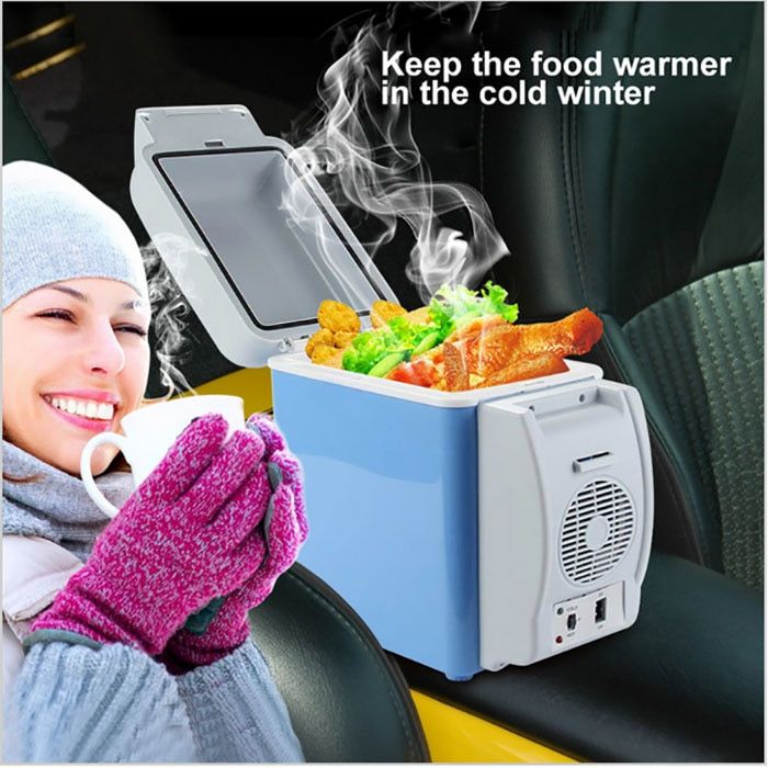 Portable 7.5L Mini Car Refrigerator Dual-use Home Traveling Mini Fridge Freezer Cool Box Warmer Refrigerator Fridge Auto Supply
