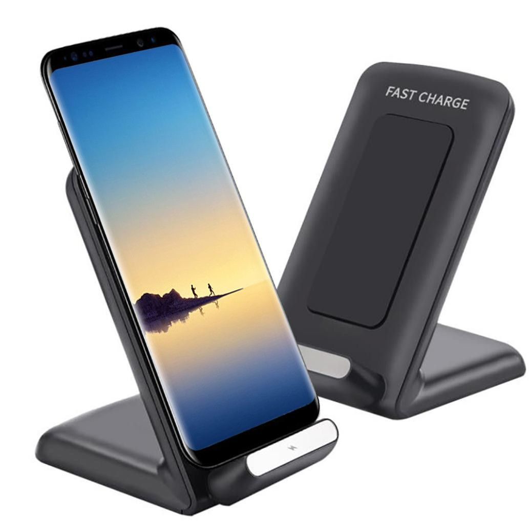 Hot sale Qi Fast Wireless Charger Rapid Charging Stand For iPhone X/8 Plus for Samsung Note 8 S8 oneplus Drop shipping Low price