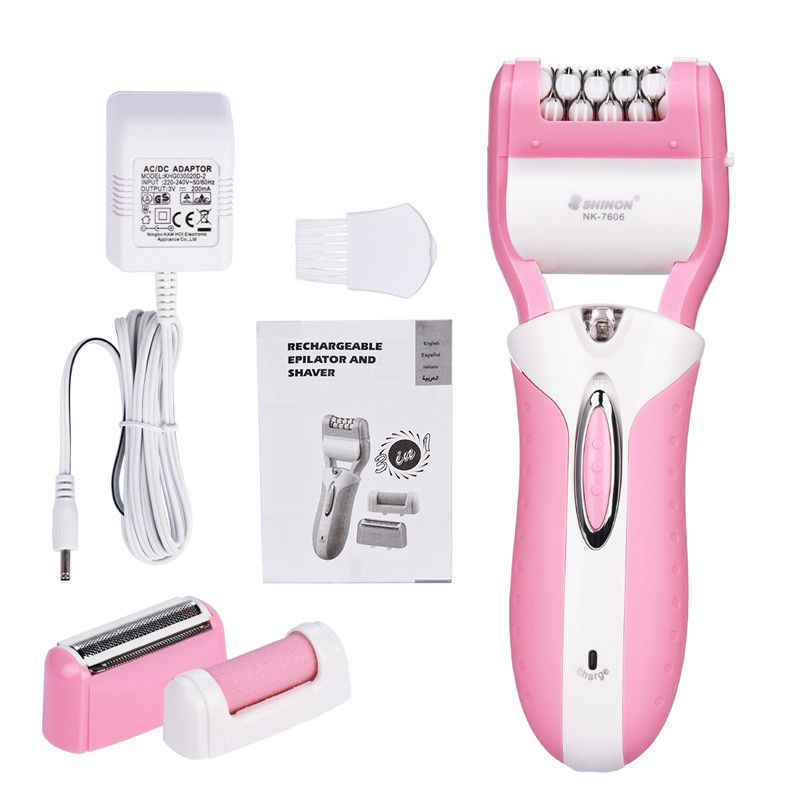 3-In-1 Rechargeable Electric Callus Remover + Lady Shaver Epilator + Hair Removal for Women Bikini Leg Underarm Armpit -S34