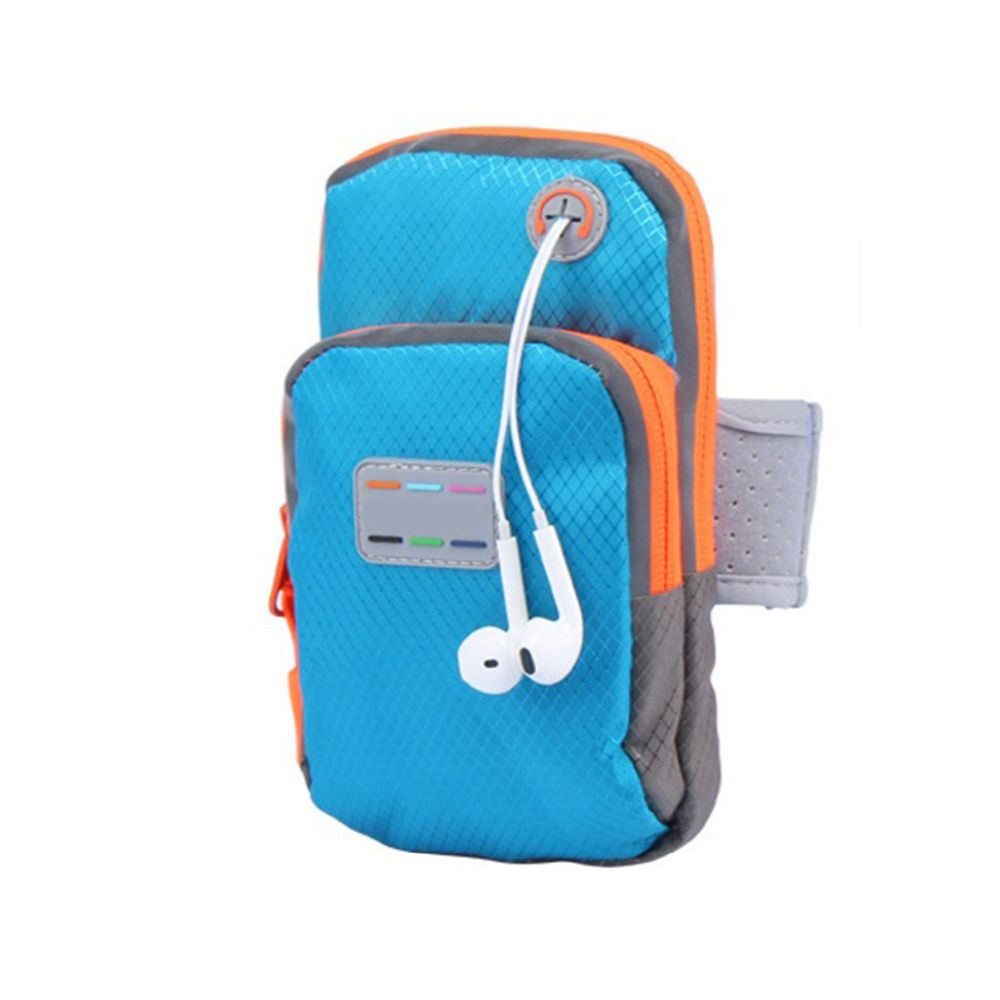 New Nylon waterproof mobile phone arm gym bag running jogging sport wrist package outdoor hand bag for fitness universal holder