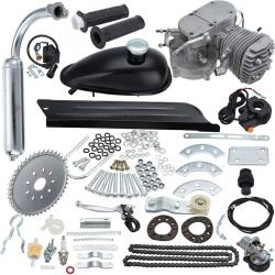 80cc 2 Stroke Engine Kit Motorized Bicycle With Carburetor Coil CDI Cable Tank