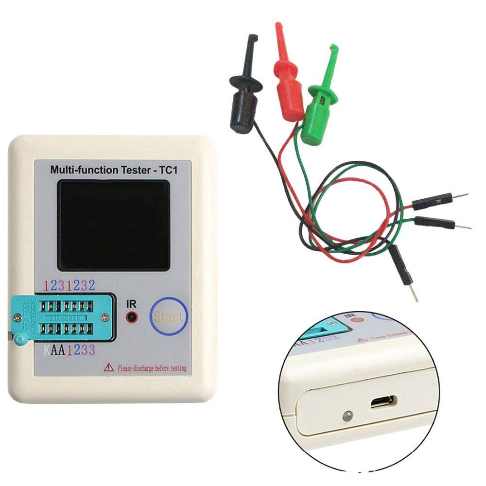 LCR-TC 3.7V LCD Digital Transistor Tester Meter Backlight Diode Triode Capacitance Meter For MOSFET/PNP/NPN/JFET