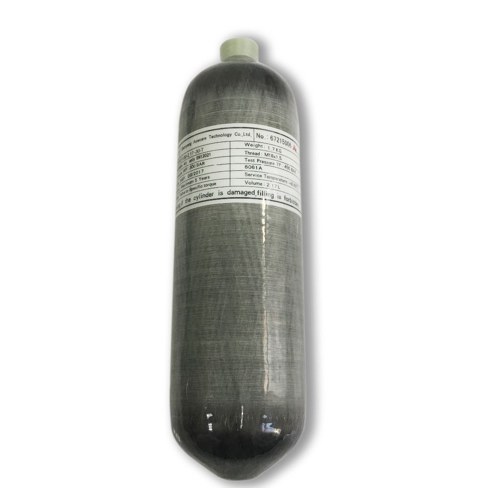 Promotion Hot 2.17L CE 300bar 4500psi Bottle High Pressure Air Tanks Softgun Gas Cylinder Carbon Fiber Drop Shipping