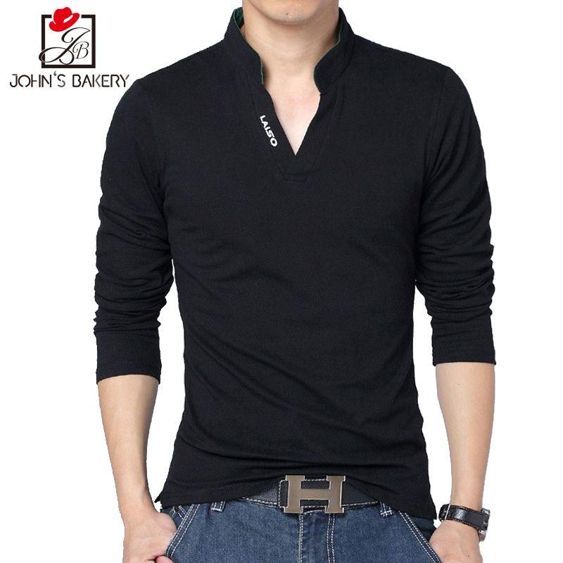 Джона булочно Мужские Поло рубашка Для мужчин 2017 брендовая одежда одноцветное Цвет Мужские Поло рубашка хлопок короткий рукав Мужские Поло...