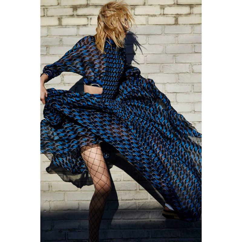 HIGH QUALITY Newest 2018 Designer Holiday Maxi Dress Women's 3/4 Sleeve Sexy Waist Cutting Out Full Long Dress