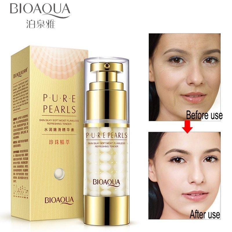 BIOAQUA pur perle collagène émulsion visage hydratant hyaluronique acide visage soin de la peau hydratant Anti-rides Anti-âge Essence