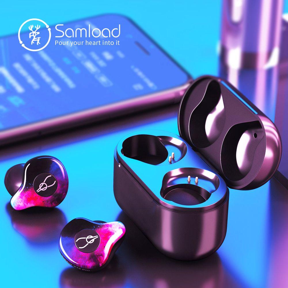 Samload True Wireless Earphones Bluetooth 5.0 ear bud Deep bass Headphones Sweatproof Sport Headset For Apple iPhone 5s 6 7s 8 X