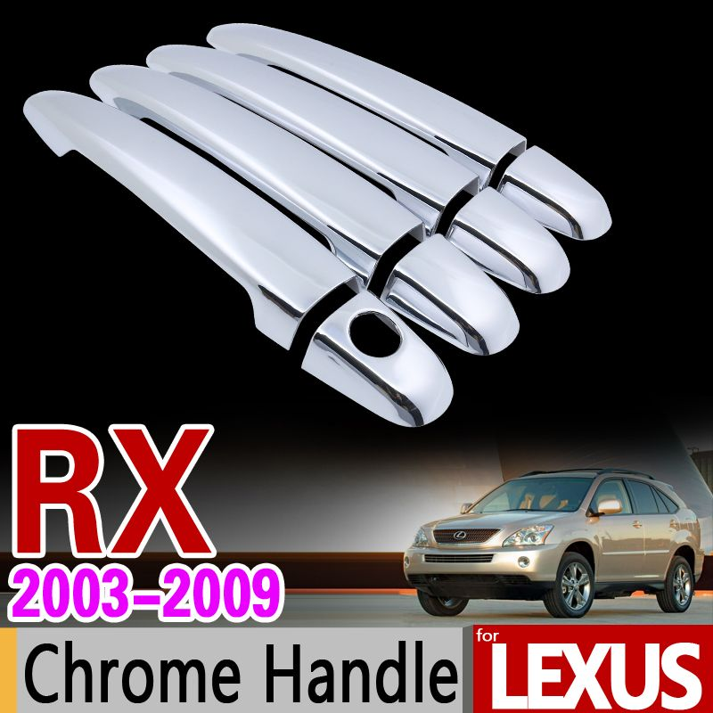 for Lexus RX 2003 - 2009 XU30 Chrome Handle Cover Trim Set RX300 RX350 RX400h Toyota Harrier Car Accessories Sticker Car Styling