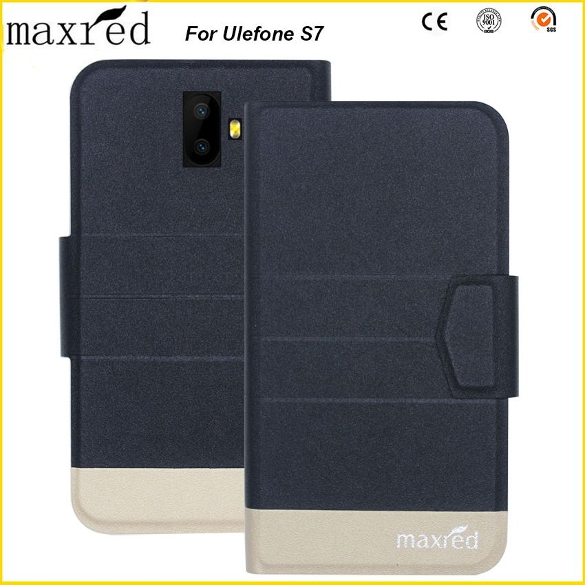 Maxred 5 Colors Original!Ulefone S7 Case High Quality Flip Ultra-thin Luxury Leather Protective Case For Ulefone S7 Cover