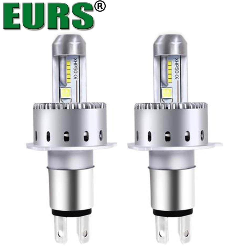 2pcs LED lights bulb H1 H3 H11 880 <font><b>9005</b></font> 9006 9007 for universal car LED Headlamp Kit canbus LED headlight 12v 40w 6500k 8000lm