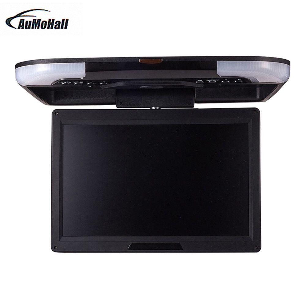 Moniteur de voiture 13 pouces écran numérique LCD moniteur de voiture monté sur le toit moniteur de plafond de voiture accessoires de voiture noir Beige/gris