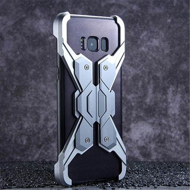 Anti-Knock Screw Up Metal Bumper For Samsung Galaxy S8 Case Luxury Combined Armor Phone Cases For Samsung S8 Plus Cover