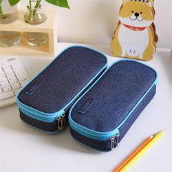 Корейский Многофункциональный школьный пенал и сумки большой емкости холст пенал коробка для мальчика подарки для студентов канцелярские ...