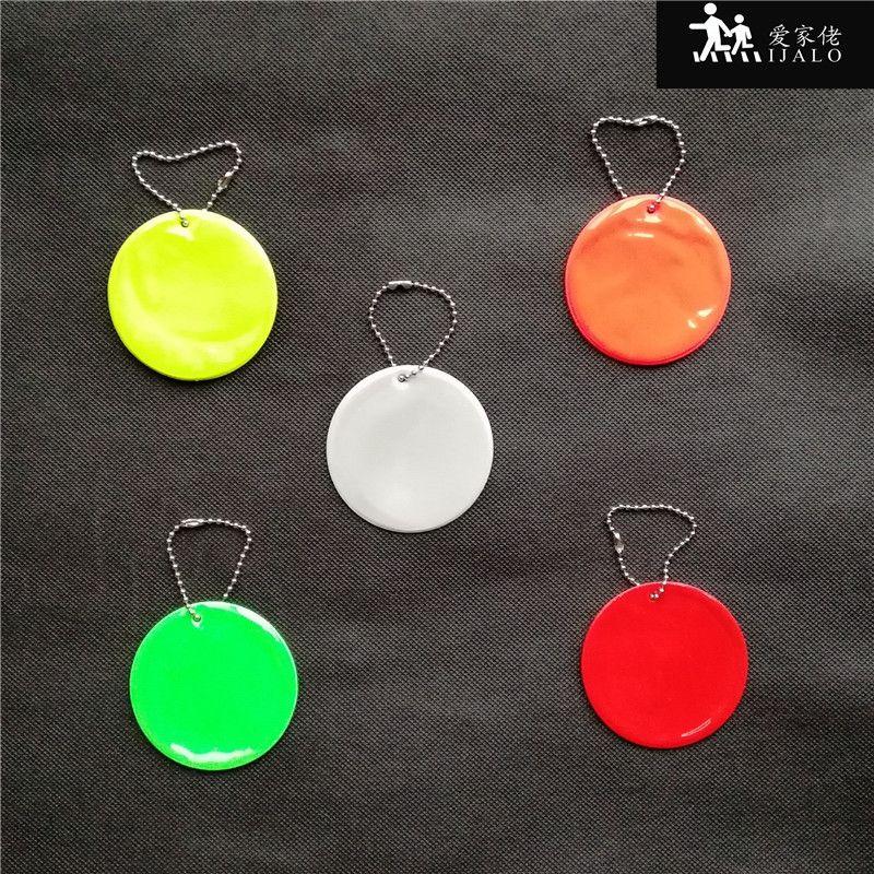 Round reflector Reflective Pendant student school bag pendant accessories. reflective keyrings