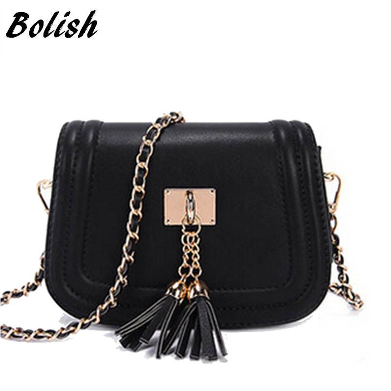 Bolish Women Vintage PU Messenger Bag Female Daily Shopping Shoulder Bag Causal Designer Day Clutches All-Purpose Dames Tassen