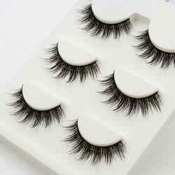 3 pairs /set 3D False Eyelashes Messy Cross Thick Natural Fake Eye Lashes Professional Makeup Tips Bigeye Long False Eye Lashes
