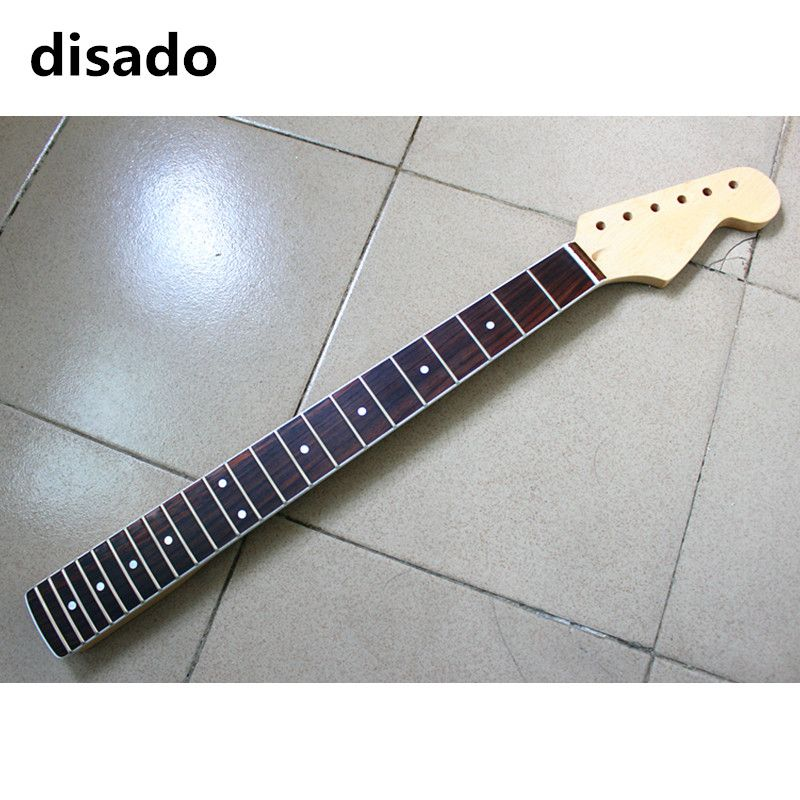 disado 21 22 24 Frets maple Electric Guitar Neck rosewood fretboard glossy paint wood color guitar parts accessories