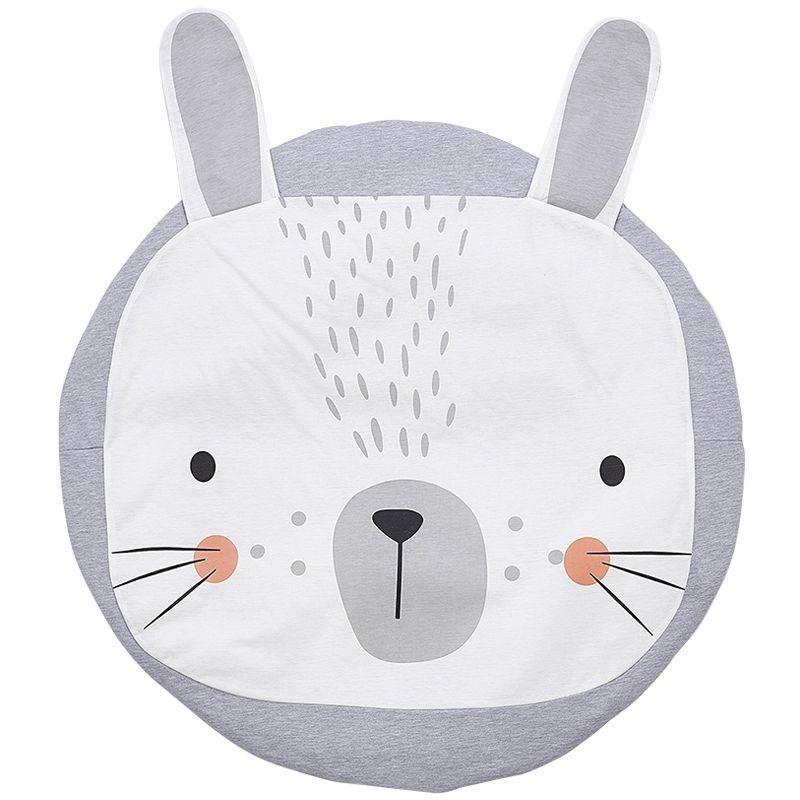 Baby Blanket Play Mat Rabbit Lion Game Mat Kids Crawling Carpet 100% Cotton Soft Baby Climbing Carpet Children's Room Decoration