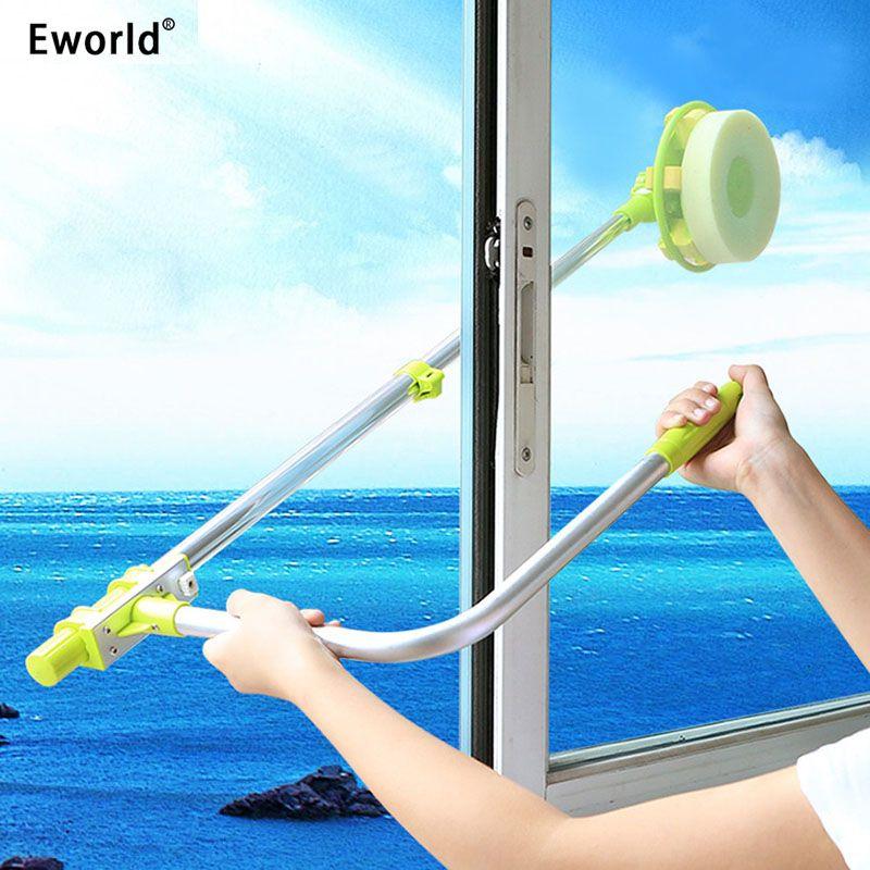 Eworld Hot brosse de nettoyage de vitres haute hauteur télescopique utile pour le lavage des vitres brosse à poussière nettoyer les fenêtres Hobot