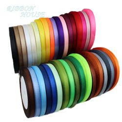 (25 yards/roll) Satin Ribbon Wholesale Gift Packing Christmas decoration diy Ribbons roll fabric (6/10/12/15/20/25/40mm)