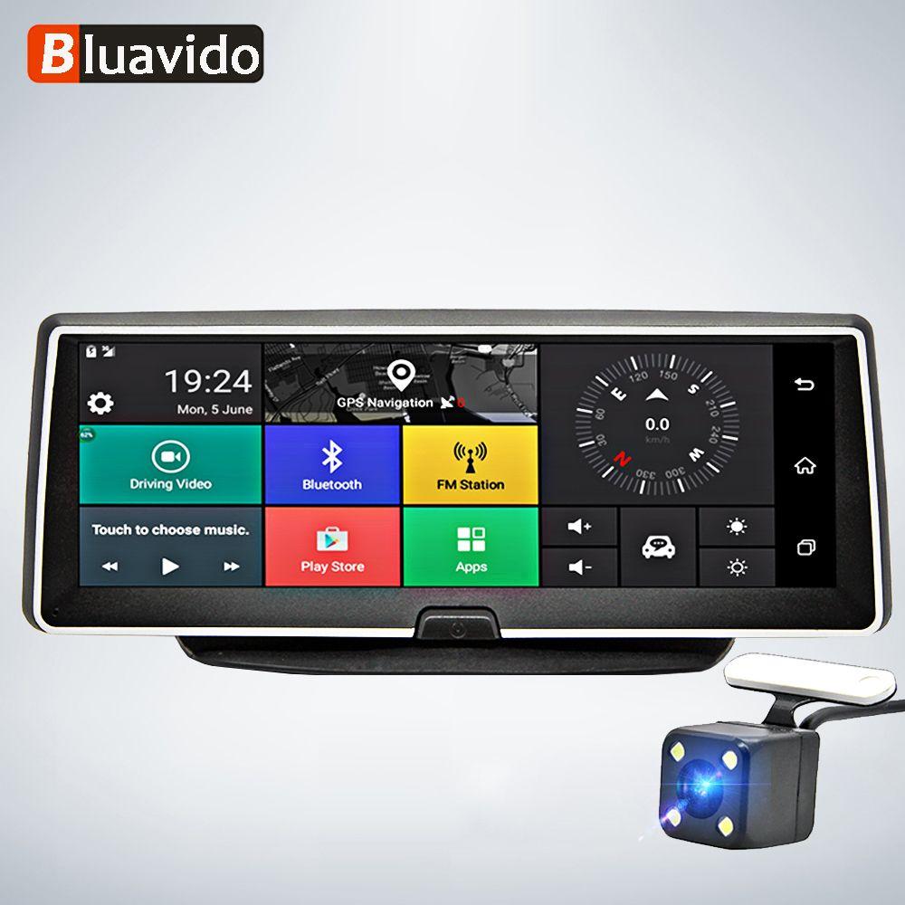 Bluavido 8 Zoll auto dash kamera 4G Android GPS Navigation ADAS FHD 1080P auto dvr video Recorder Nacht vision Parkplatz monitor