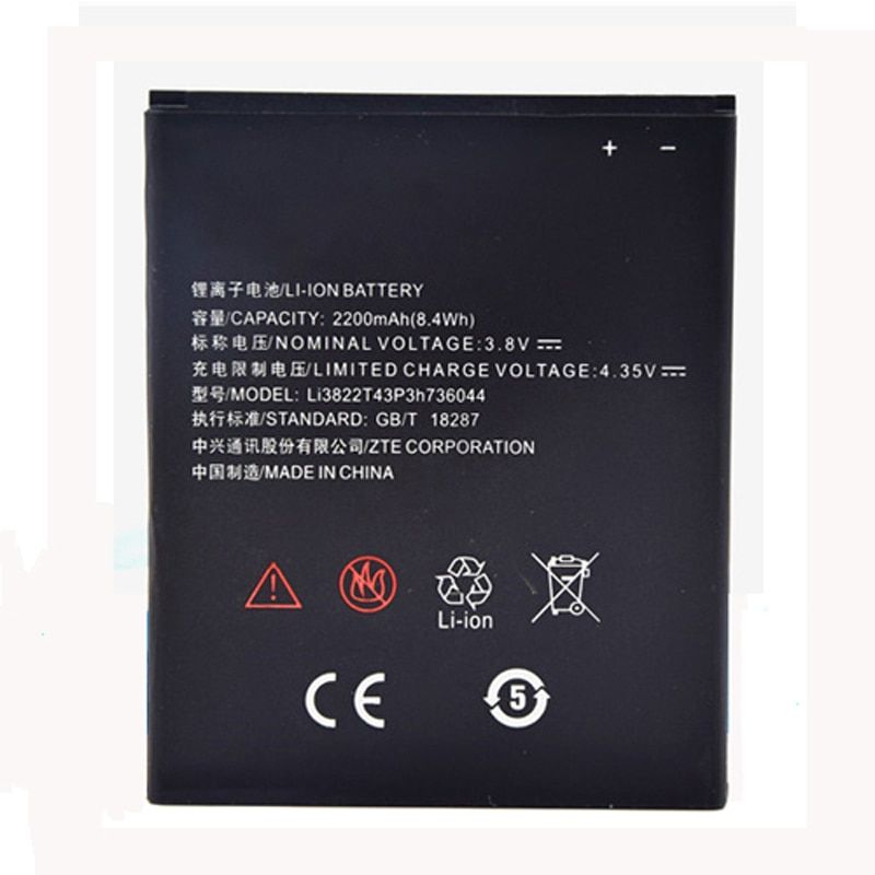 Original Li3822T43P3h736044 phone battery For ZTE Blade L4 A460 2200mAh