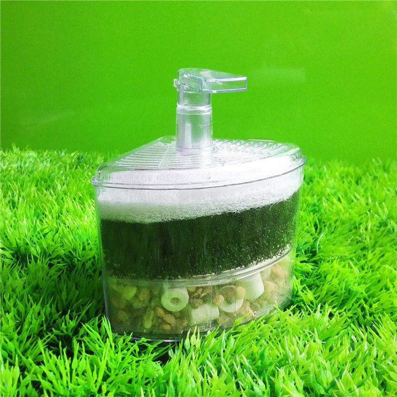 10*8*12 cm Aquarium Air Driven Coin Bio Filtre Éponge Fry Crevettes Nano Fish Tank Aquarium 1 pcs