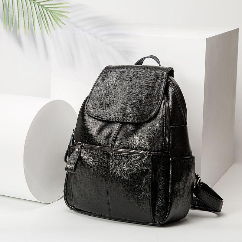Marke echtem leder frauen rucksack große reise rucksack multifunktionale schule rucksack für mädchen schulter tasche neue heiße C442