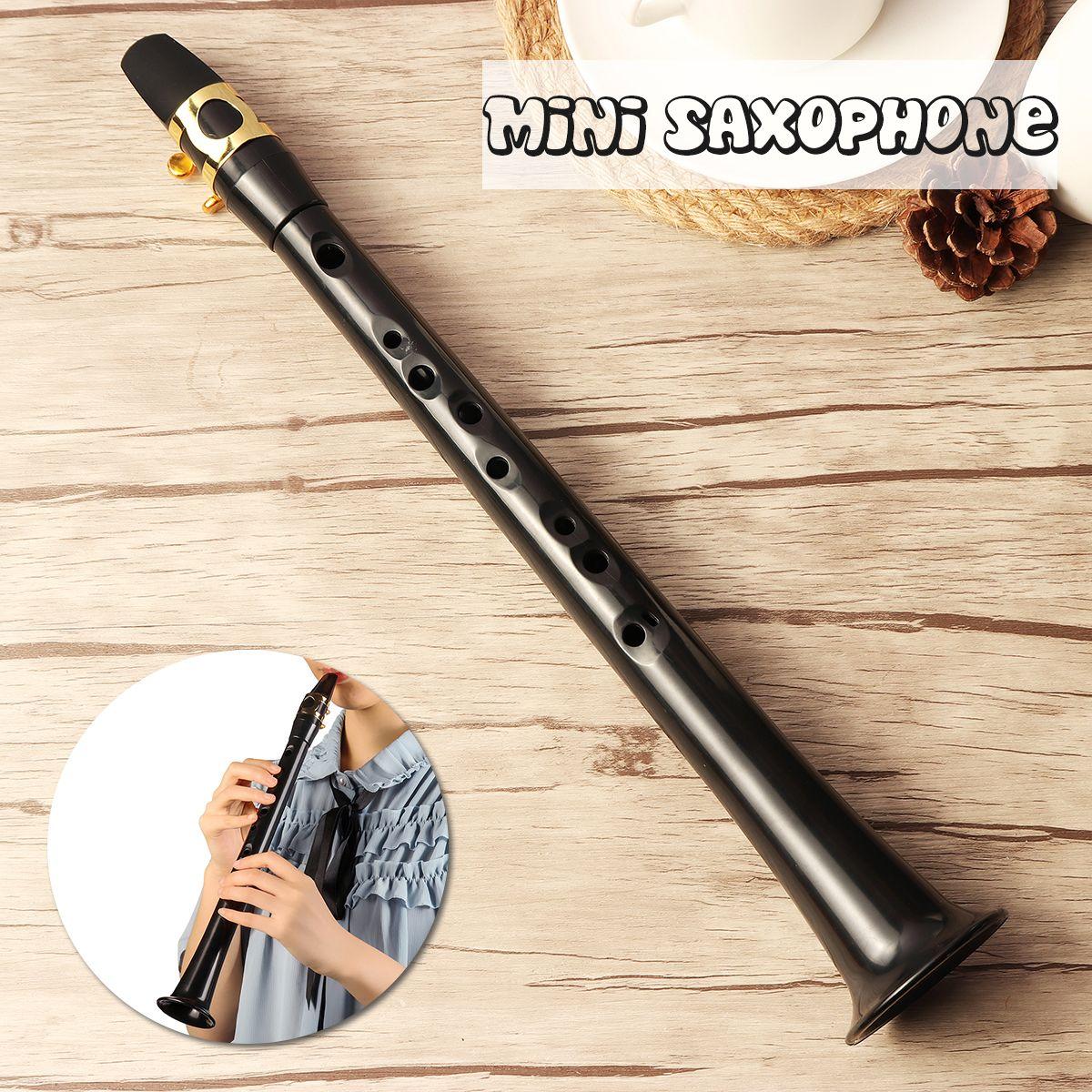 Noir LittleSax Mini Sax Portable C Clé Saxophone ABS Léger Sax instruments de musique avec Sac de Transport pour Begginer