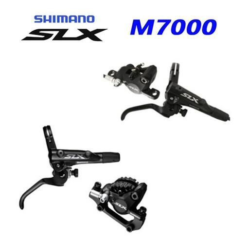 SHIMANO SLX M7000 Hydraulic Disc Brake Set MTB Front and Rear W/Resin Pads ICE Tech