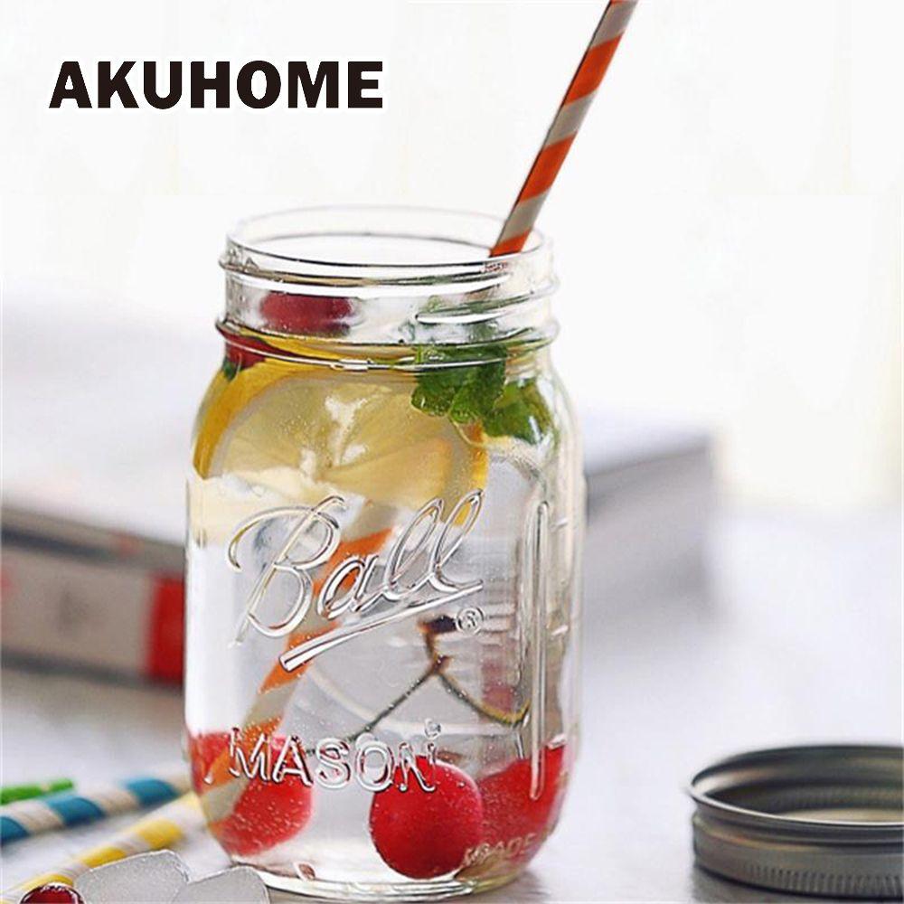 Tasse de boisson de tasse en verre de pot de maçon de 130 ~ 780ML avec le couvercle