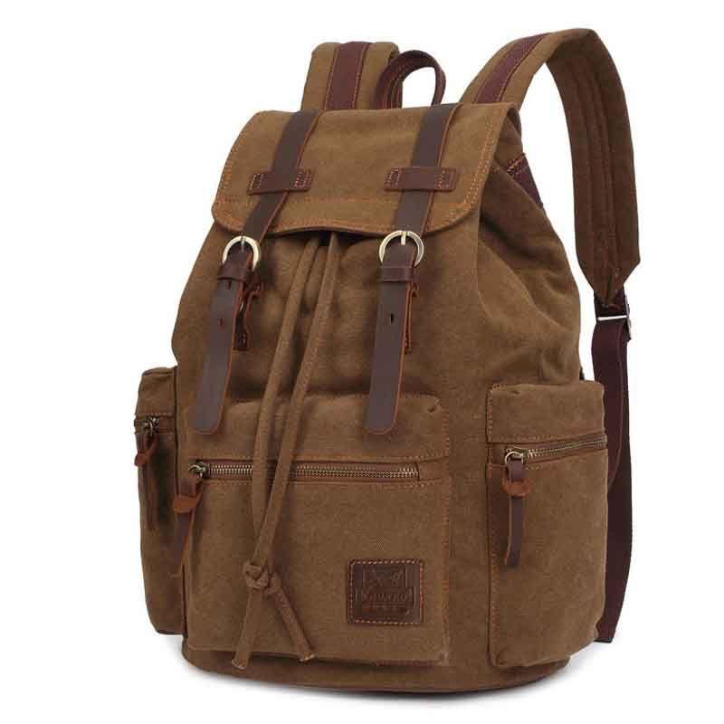 NOUVEAU sac à dos Vintage toile Mâle sac Haute capacité voyage ordinateur portable Concepteur sacs de haute qualité sacs à dos Haute sac d'école des élèves