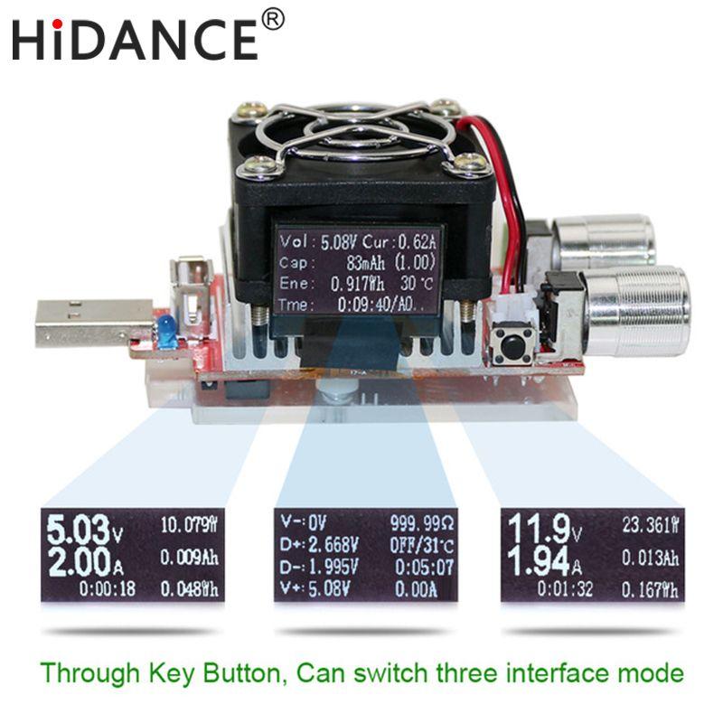 35w usb tester electronic load adjustable constant current aging resistor <font><b>voltage</b></font> capacity qualcomm qc2.0/3.0 battery voltmeter
