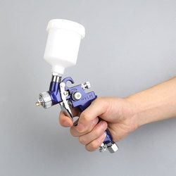 Vehemo 1.0 MM Nozzle H-2000 HVLP Semprot Gun Airbrush Mini Air Cat Semprot Senjata Profesional Untuk Lukisan Mobil Aerograph Hot Sale