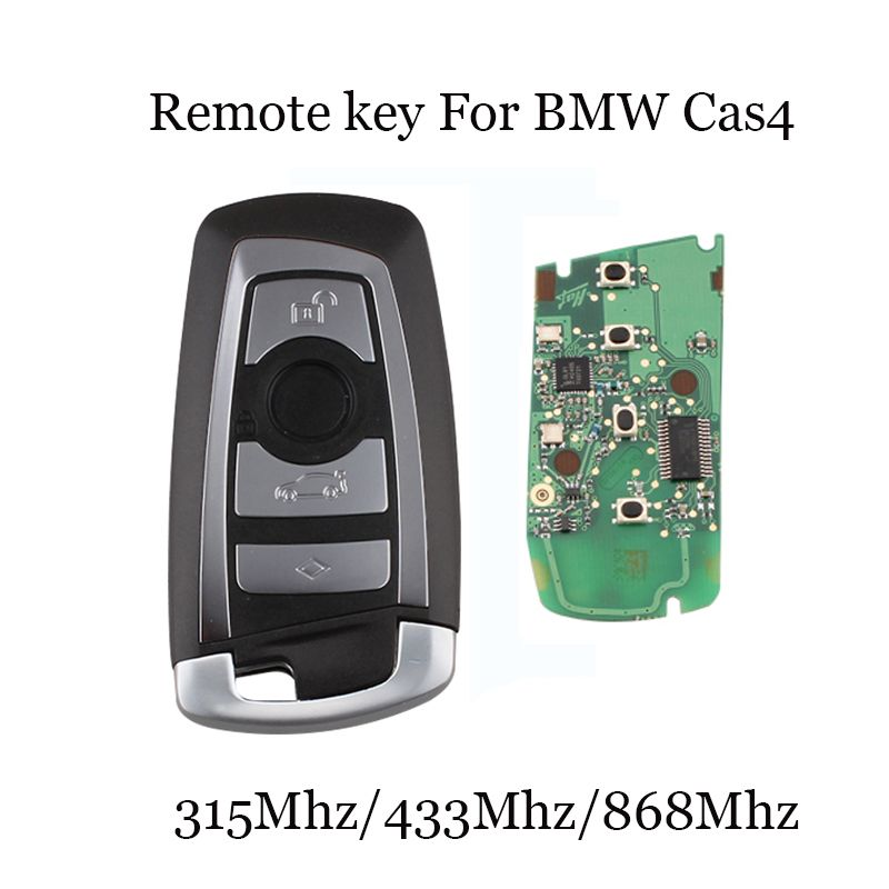 315/433/868 Mhz Smart Remote Key 4 Buttons For BMW 3 5 7 Series CAS4 System 2009 2010 2011 2012 2013 2014 2015 2016 KR55WK49863