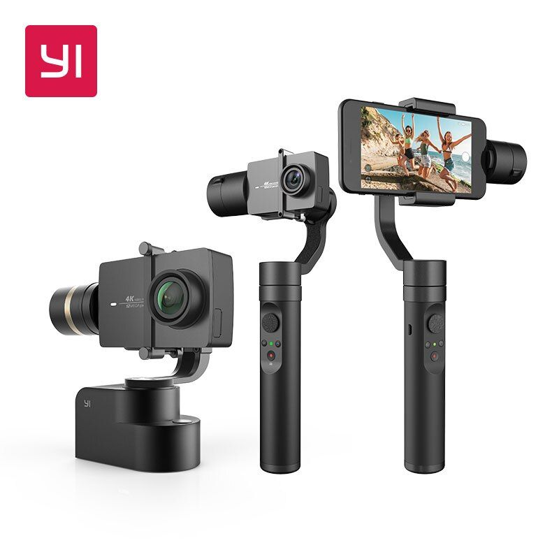 YI Handheld Gimbal 3-Axis Handheld Stabilizer for Smartphone Or YI 4K,4K Plus,YI Lite Action Camera