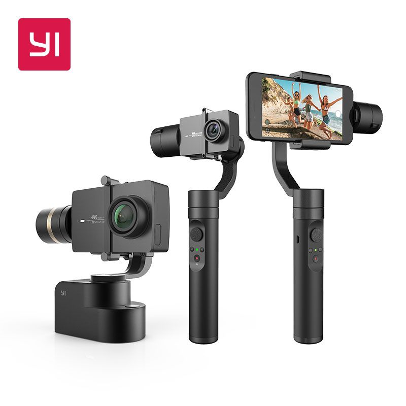YI Handheld Gimbal 3-<font><b>Axis</b></font> Handheld Stabilizer for Smartphone Or YI 4K,4K Plus,YI Lite Action Camera