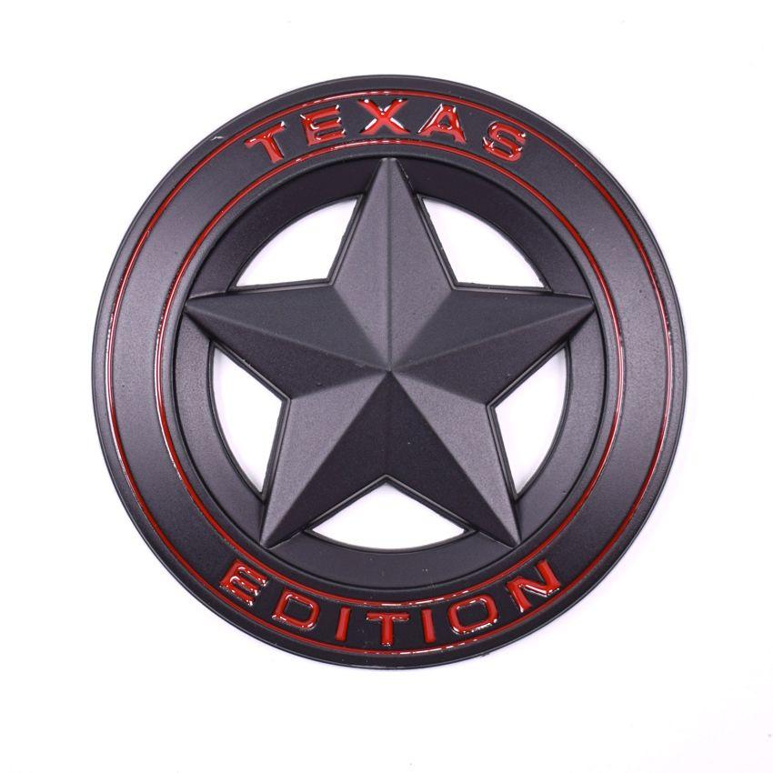 YAQUICKA 3D Metal Black TEXAS EDITION Car Fender Side Tail Body Emblem Badge Sticker For JEEP Wrangler Liberty Grand Cherokee