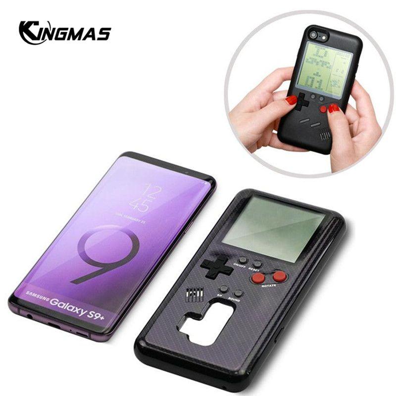Rétro Gameboy Tetris téléphone étui pour samsung Galaxy S8 S9 jouer Console de jeu couverture cadeau silicone pour S9 Plus coque de coque mobile