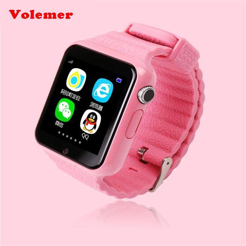 kids smart watch V7K GPS Smartwatch Touch Screen with Camera SOS Location Device Tracker Kid Safe children's watch PK Q730 Q90